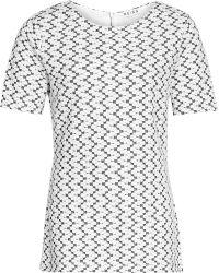 Reiss Miranda Monochrome Textured Top - Lyst