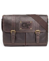 Jack Mason Brand - 'gridiron - Georgia Tech Yellow Jackets' Leather Messenger Bag - Lyst