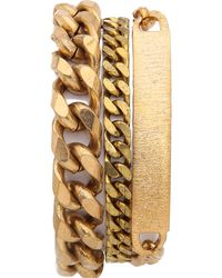 Serefina - Chain Layered Bracelet - Gold - Lyst