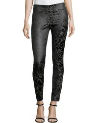 Donna Karan New York Tonal Print Slim Pants - Lyst