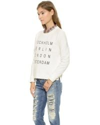 Madewell City Names Crop Sweatshirt  Lighthouse - Lyst