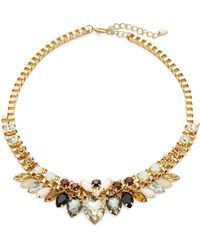 Cara - Multi-stone Goldtone Collar Necklace - Lyst