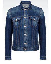 Armani Jeans Denim Jacket - Lyst