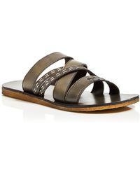 John Varvatos Tobago Leather Slide - Lyst