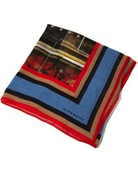 Givenchy Unisex Sphinx Stripes Cotton Scarf - Lyst
