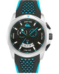 Quiksilver - 'the Guide' Multifunction Silicone Strap Watch - Lyst