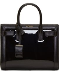 Saint Laurent  Patent Leather Sac Du Jour Nano Tote Bag - Lyst