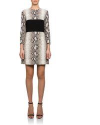 Carven A-Line Dress beige - Lyst