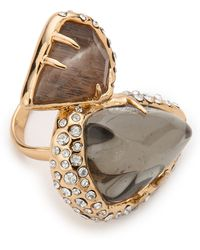 Alexis Bittar Stacked Coktail Ring Blackgold - Lyst