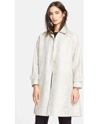 Max Mara Crocodile Jacquard Cotton Blend Raincoat - Lyst