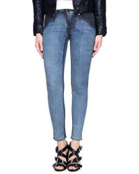 True Religion European Chrissy Mid Rise Super Skinny Womens Jean - Lyst