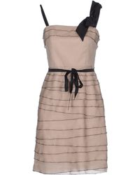 Dolce & Gabbana Short Dress gray - Lyst