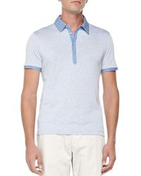 Hugo Boss Heather-knit Polo - Lyst