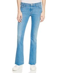 Mother | The Weekender Fray Jeans In Chill | Lyst