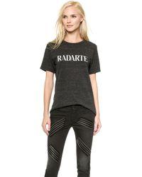 Rodarte Radarte T-shirt - Charcoalwhite - Lyst