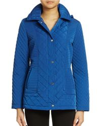 Calvin Klein Hooded Quilted Jacket - Lyst