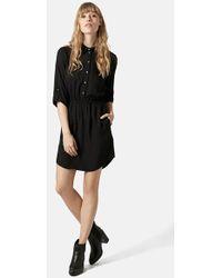 Topshop Women'S Utility Twill Shirtdress - Lyst