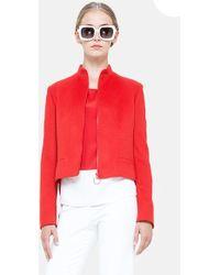 Akris Punto Wool & Angora Jacket - Lyst
