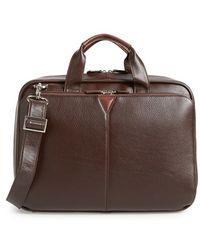 Johnston & Murphy - 'slimline' Leather Briefcase - Lyst