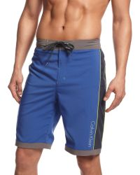 Calvin Klein 4way Stretch Colorblocked Eboard Swim Shorts - Lyst