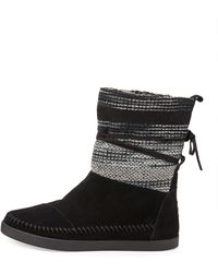 TOMS Striped Suede Nomad Boot - Lyst