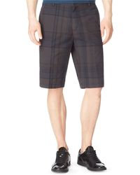 Calvin Klein Exploded Plaid Slub Chino Shorts - Lyst