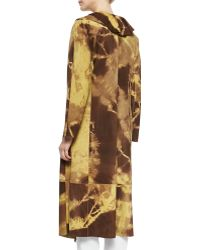 Shamask | Giraffe-Print Ruffled Suede Coat | Lyst