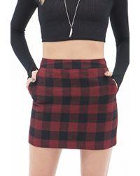 Forever 21 Plaid Pocket Skirt - Lyst