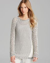 Two By Vince Camuto - Crew Neck Bubble Stitch Jumper - Lyst