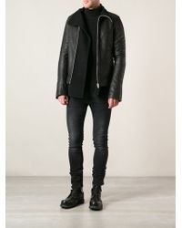Rick Owens Black Layered Jacket - Lyst