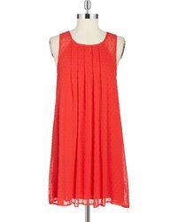 Sam Edelman Pleated Trapeze Dress - Lyst