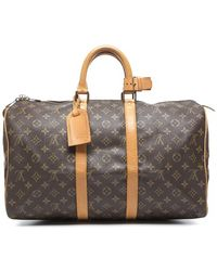 Louis Vuitton Preowned Monogram Canvas Keepall 45 Bag - Lyst