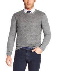 Hugo Boss Tolentino  Cotton and Cashmere Print Sweater - Lyst
