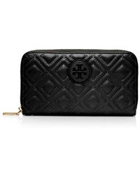 Tory Burch Marion Quilted Zip Continental Wallet - Lyst