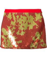 Emanuel Ungaro Jacquard Mini Skirt - Lyst