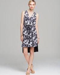 Robert Rodriguez Dress - Sleeveless Floral Print Midi Drawstring white - Lyst