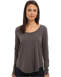 Chaser Knot Back Ls Tee - Lyst