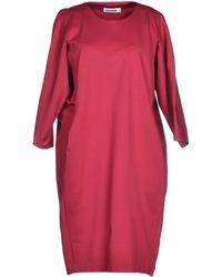 Jil Sander Red Short Dress - Lyst