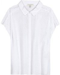 Rag & Bone Lakewood Perforated Cotton Top - Lyst