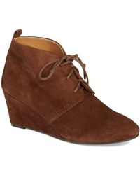 Nine West Brown Illusion Wedges - Lyst