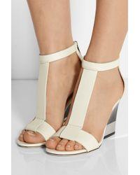 Jimmy Choo Milan Leather Wedge Sandals - Lyst