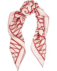 Valentino Intrigate Printed Silk-twill Scarf - Lyst
