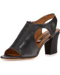 Alberto Fermani Merone Cutout Leather Sandal - Lyst