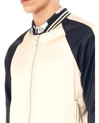 Marc By Marc Jacobs - Contrastpanel Satin Bomber Jacket - Lyst