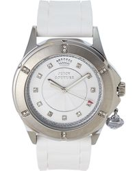 Juicy Couture 1901195 Silver-Tone & White Watch - Lyst