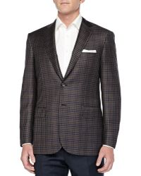 Brioni Check Two-Button Jacket - Lyst