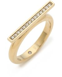 Michael Kors Pave Bar Ring Goldclear - Lyst