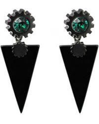 Lion Studio Triangle Earrings In Black - Lyst