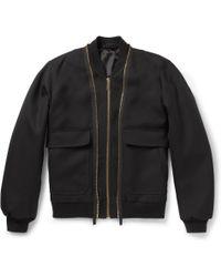 Alexander McQueen Doublezip Wooltwill Bomber Jacket - Lyst