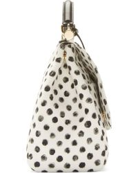 Dolce & Gabbana White Polka Dot Medium Miss Sicily Bag - Lyst